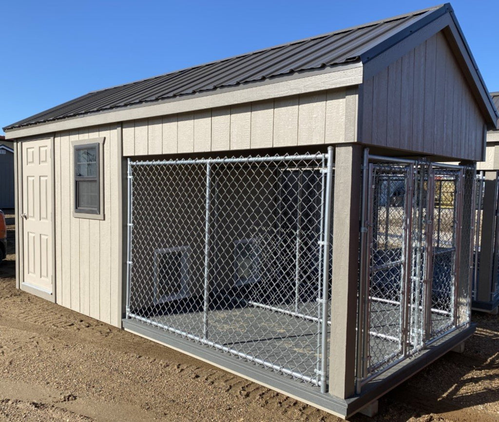 08X16 Ranch Dog Kennel LP Wood Panel Located in Morris Minnesota