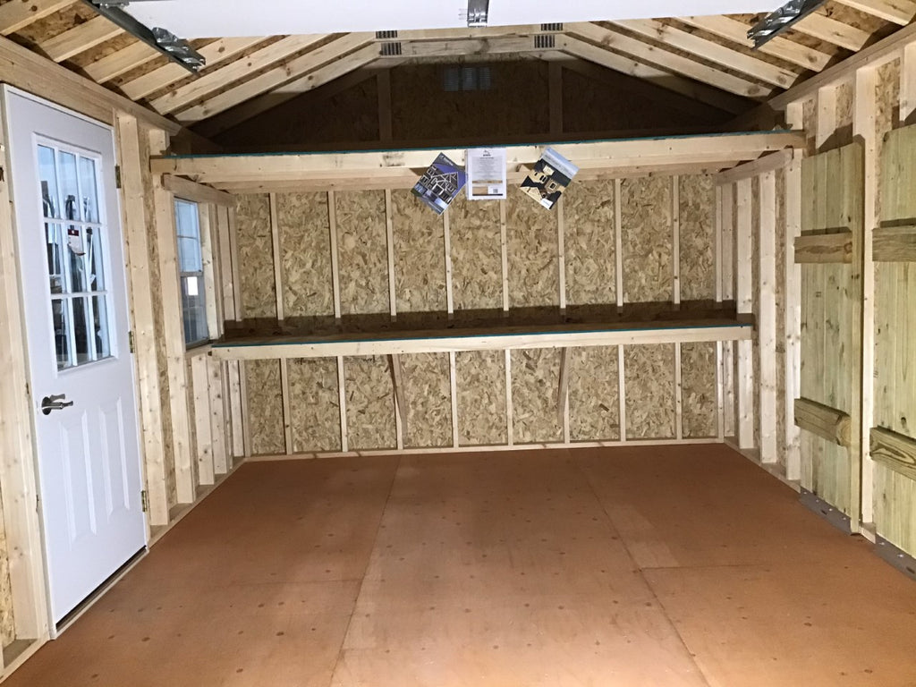12X16 Farm Garage Storage Package With Wood Panel Siding Located in Corcoran Minnesota