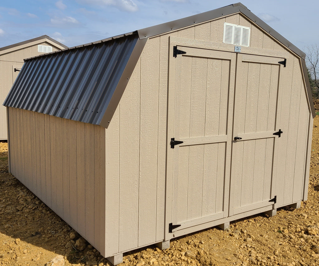 10X12 Utility Low Barn Wood Panel Shed Located in Worthington Minnesota