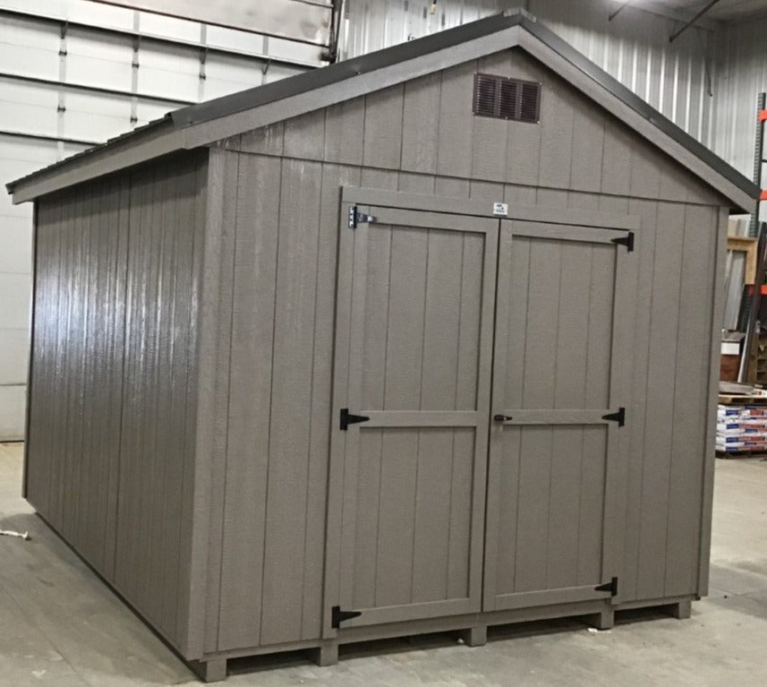 10X12 Utility Ranch Wood Panel Shed Located in Mobridge South Dakota