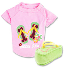 Beach Bum 2 pc - t-shirt & plush toy