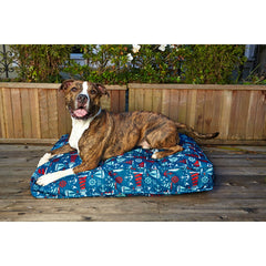 Blue Ocean Blue Dog Outsde Duvet