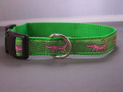 Pink Alligators Collars & Leads