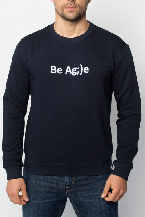 Свитшот Be Agile Blue