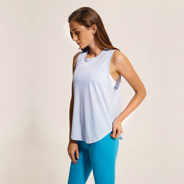 Loose Fit Solid Yoga Fitness Top