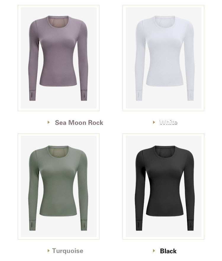 Long Sleeved Quick Dry Mesh Patchwork Tops with Thumb Holes