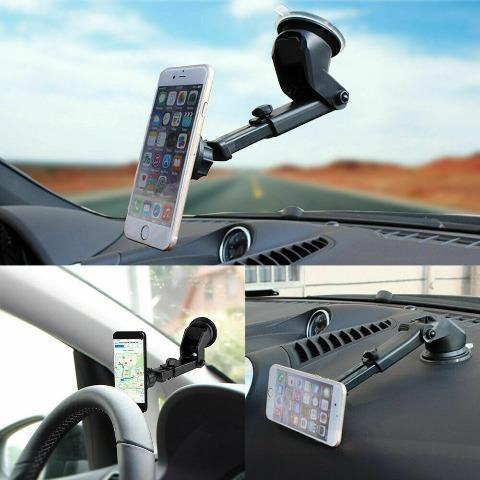 Universal Magnetic Car Cell Phone Holder Dash Windshield Suction Cup Stand