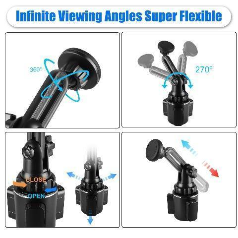 Adjustable Car Cup Holder Magnetic Mount For Cell Phone