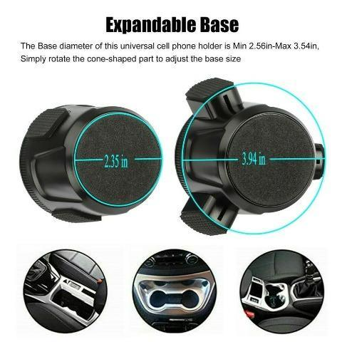Car Phone Holder Adjustable Height Cell Phone Stand Cradle Mount