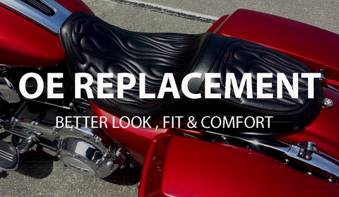 Original Equipment replacement motorcycle seats