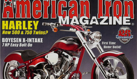 American Iron Magazine custom motorcycle seat