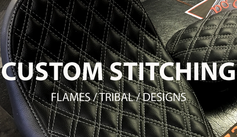 custom stitched motorcycle seats
