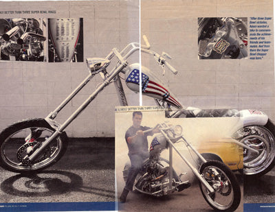 Adam Vinatieri Hot Bike Magazine Eddie Barrett 73 cycle custom seat