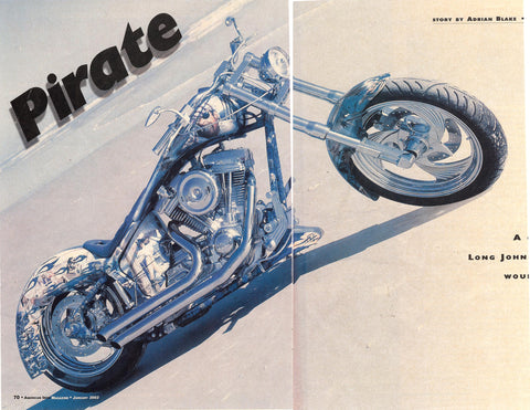 Pirate motorcycle Hot Bike Magazine Eddie Barrett 73 cycle seat