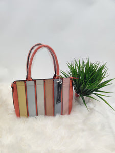 Orange Color Block Purse