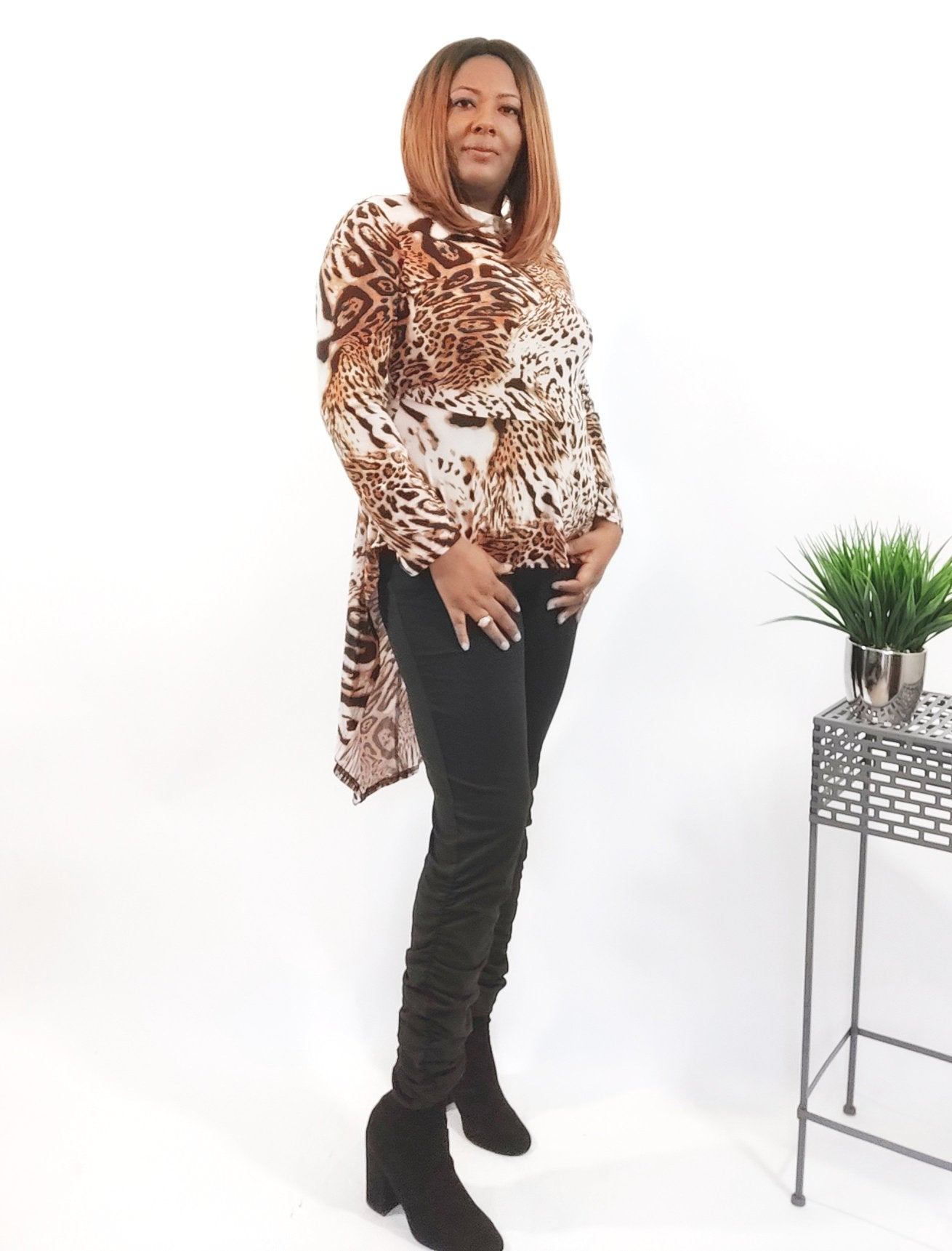 E'dora Leopard High-Low Top