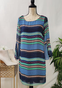 Blues and Blocks Dress