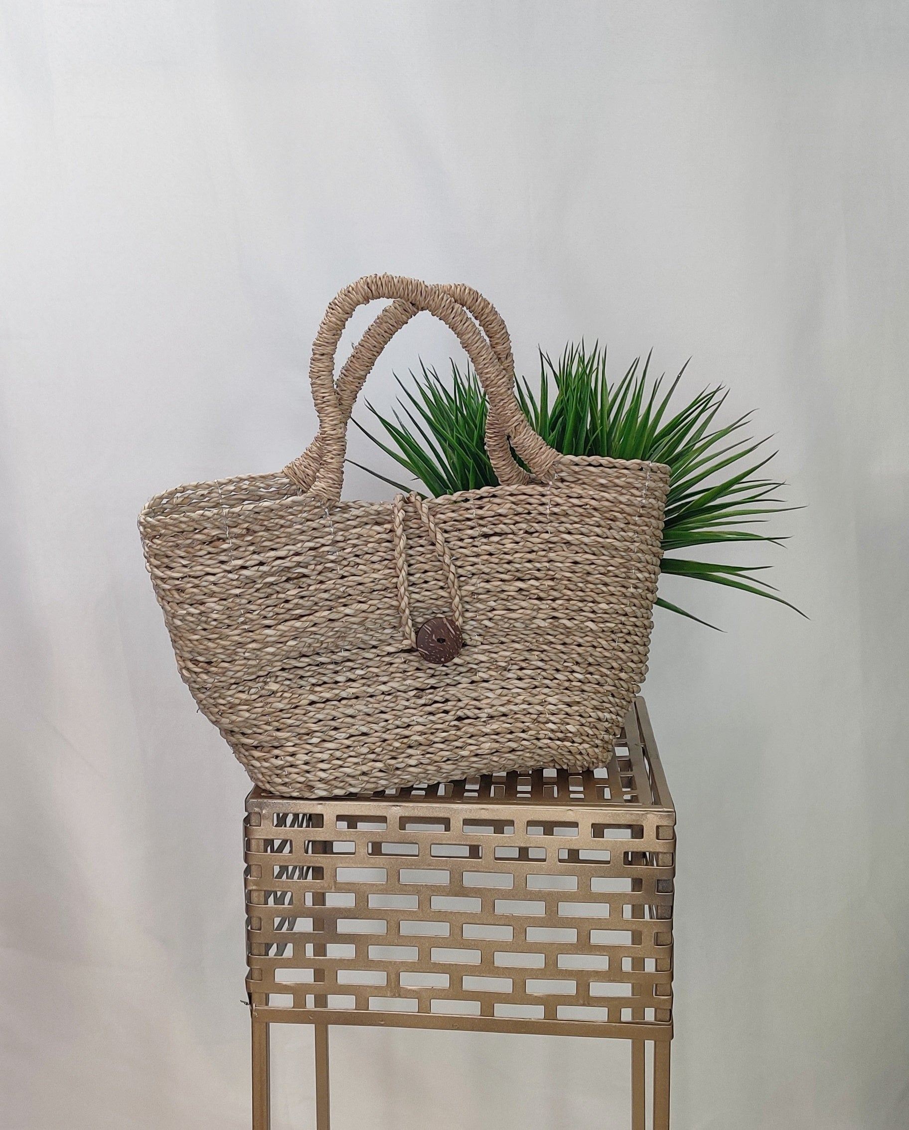 Handbag- Tan Straw bag