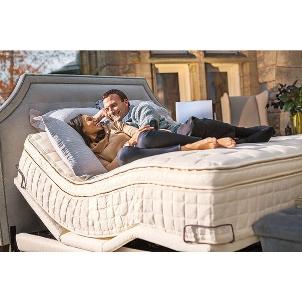 Naturepedic Conductor Adjustable Bed Base with Organic Upholstery Queen Floor Sample