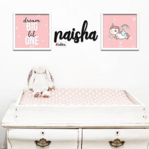 Baby Girl Statement Wall