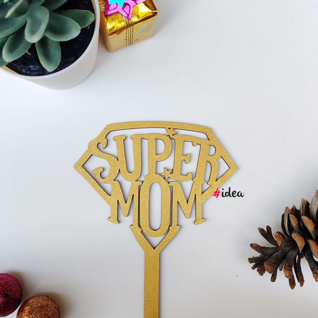 Super mom cake topper