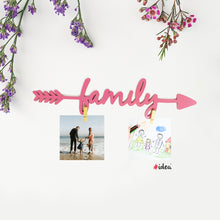 Load image into Gallery viewer, Family arrow clip hanging