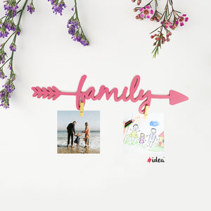Family arrow clip hanging