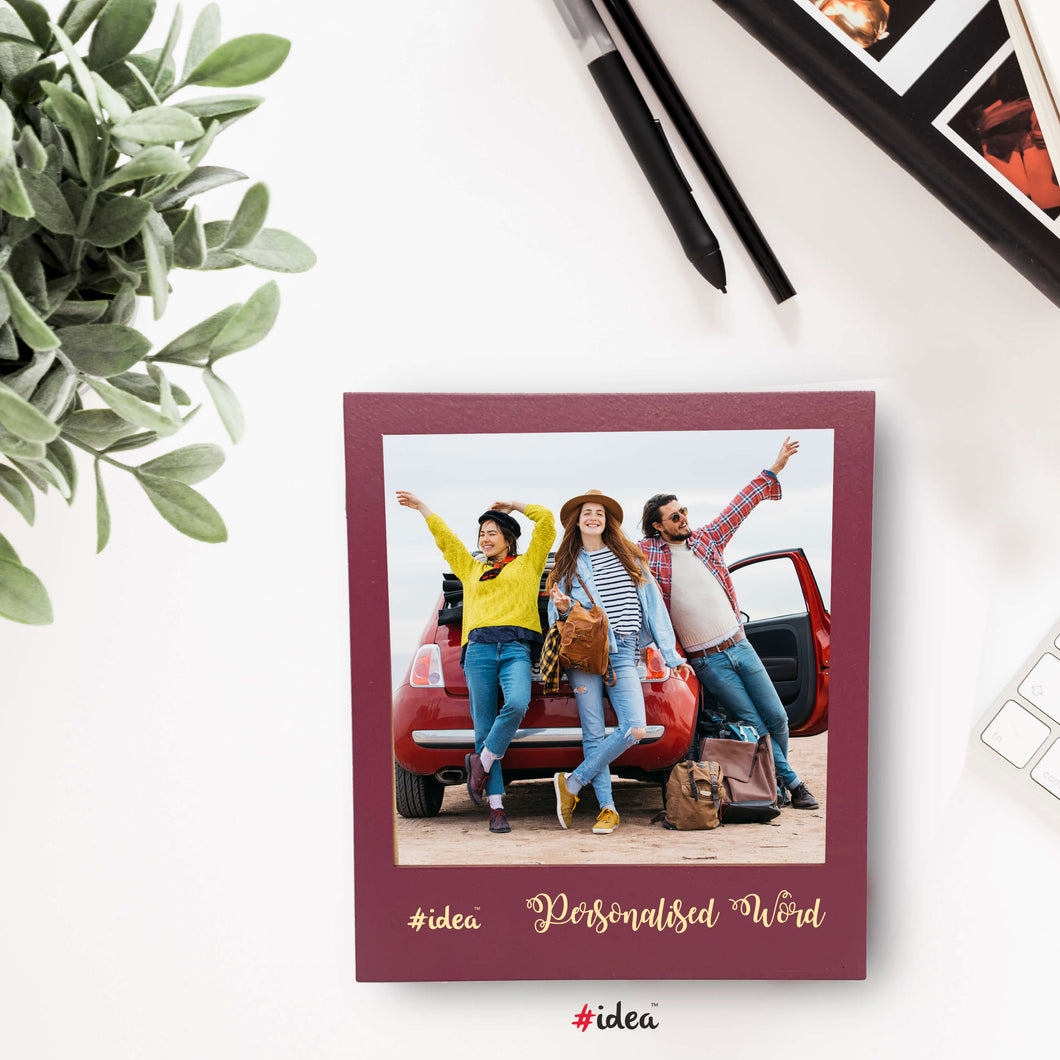 Personalised word photo magnet