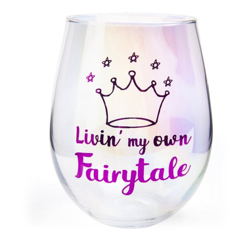 Aurora Stemless Wine Glass - Livin' My Own Fairytale