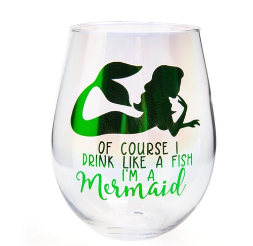 Aurora Stemless Wine Glass - Drink Like A Mermaid