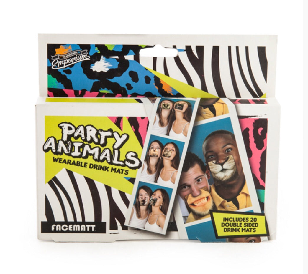 Party Animal Face Mats