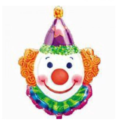 Helium filled Clown foil balloon