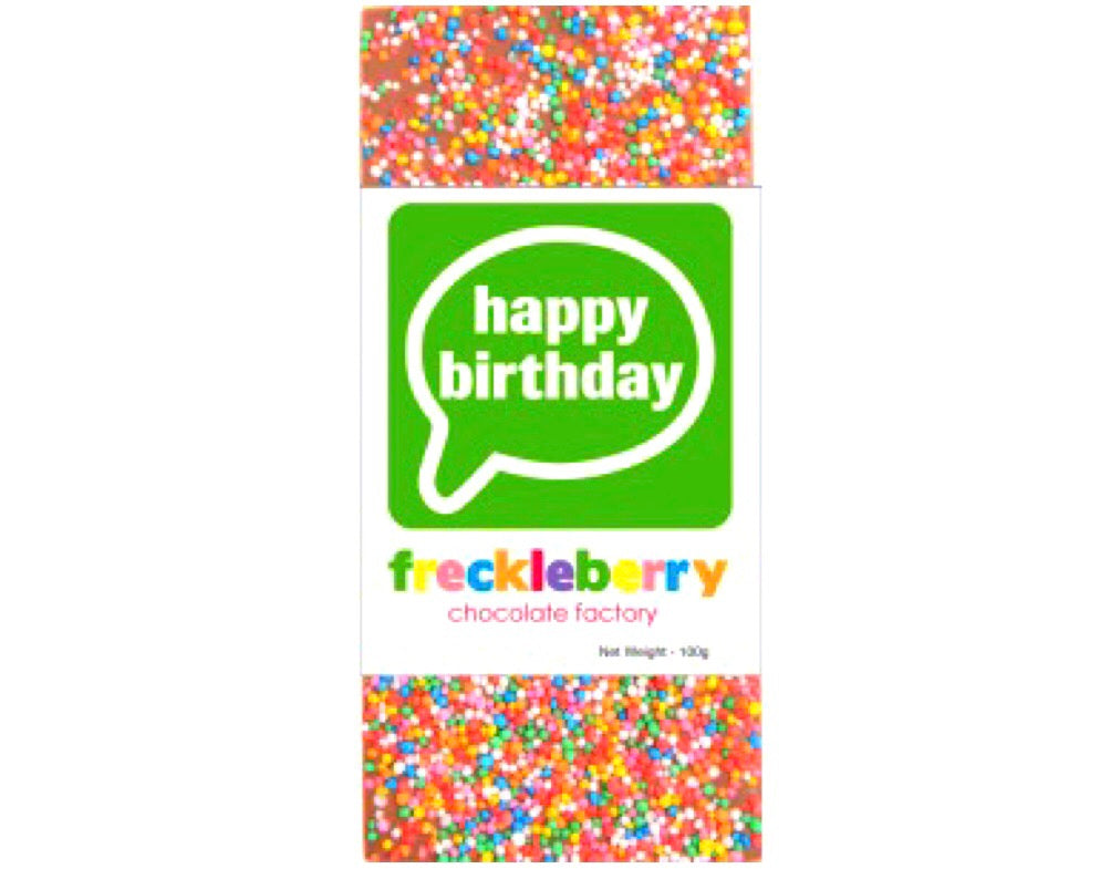 Happy Birthday Freckle Chocolate