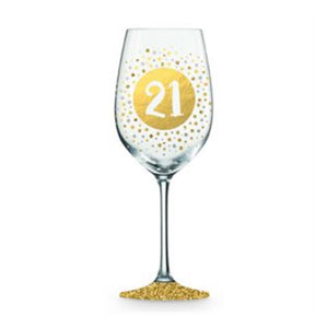 21st Birthday Wine Glass