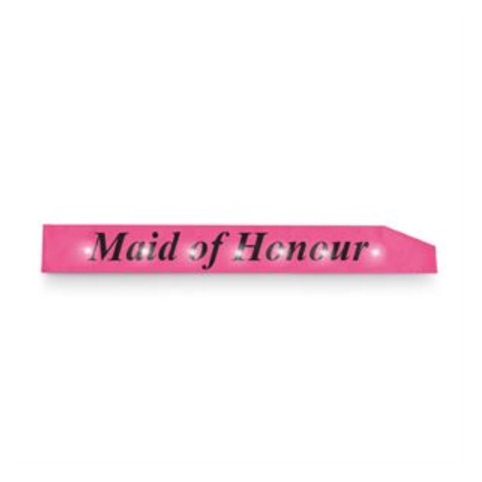 Maid Of Honour Flashing Sash