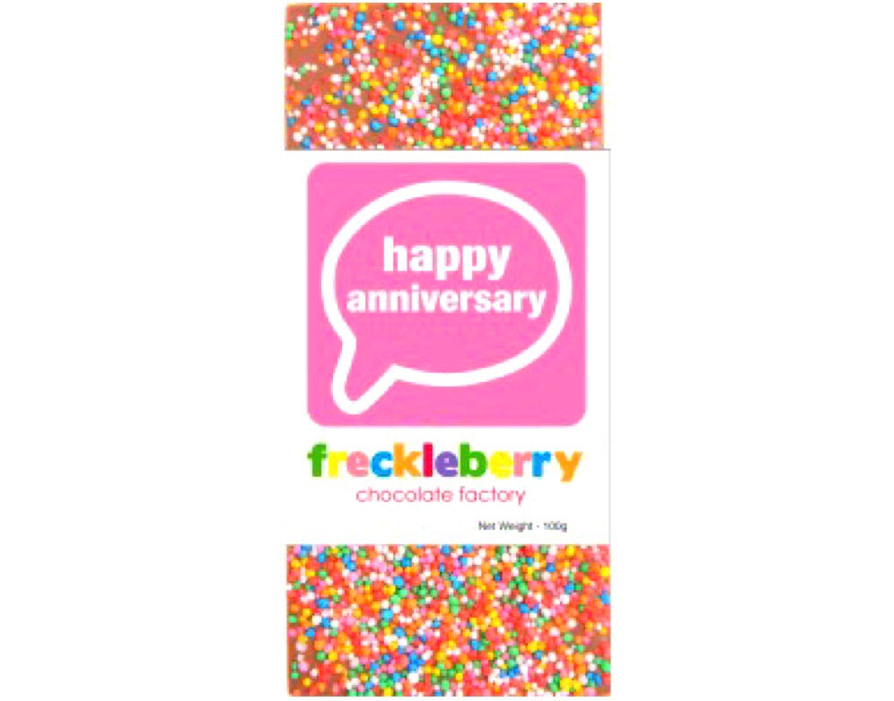 Happy Anniversary Freckle Chocolate