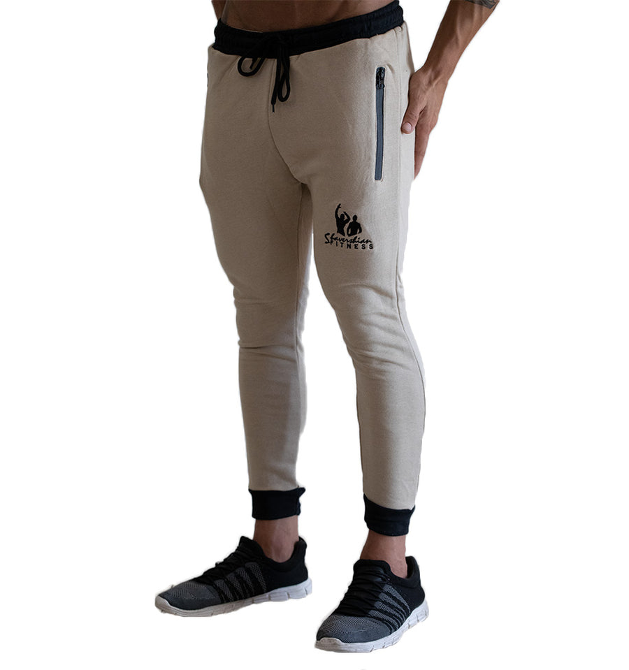 Legacy Track Pants - Cream/Black