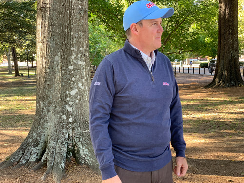 Ole Miss Alumni Association + Horn Legend Men's 1/4-Zip Pullover