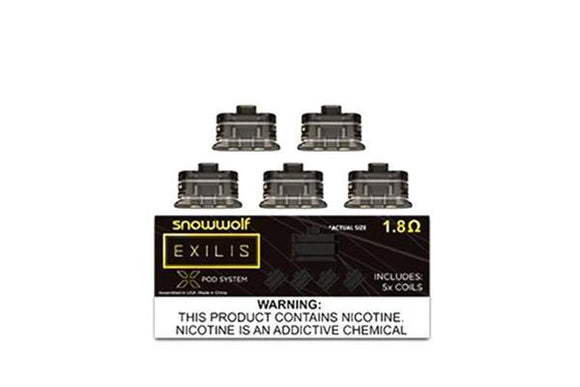 SNOWWOLF Exilis Replacement 1.8ohm Coils (5 pcs)