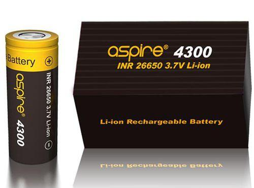 Aspire INR 26650 4300mAh 3.7V Li-ion High Drain Flat Top Battery - Vaporider