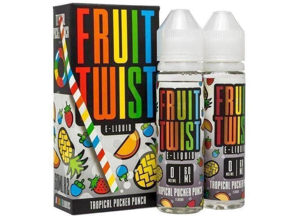 Fruit Twist E-Liquid 60mL/120mL - Tropical Pucker Punch - Vaporider