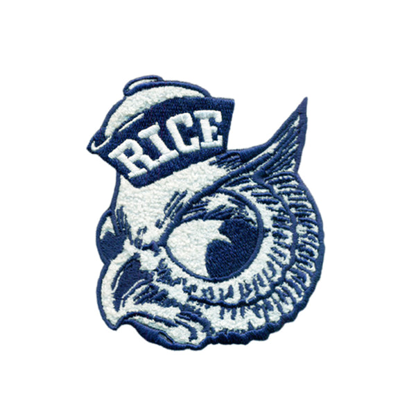 Rice University Vintage Owl Chenille Patch