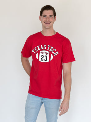 Texas Tech University Red Raiders First Down Comfort Colors T-Shirt - Red