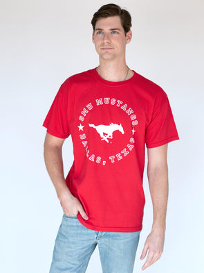 Southern Methodist University Mustangs MVP Comfort Colors T-Shirt - Red