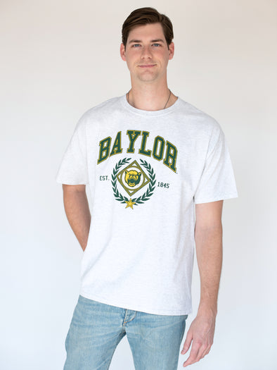 Baylor University Bears Vintage Growler Short Sleeve T-Shirt - Ash Grey