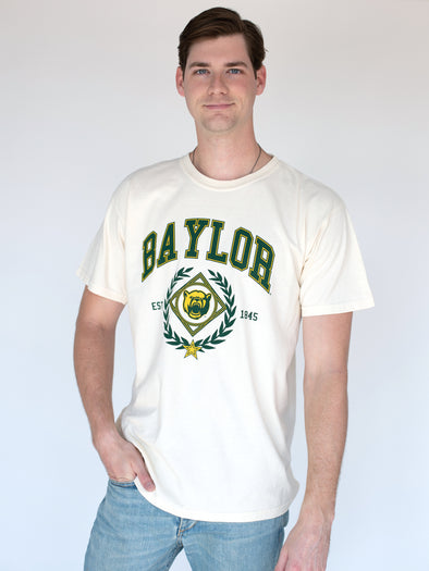 Baylor University Bears Vintage Growler Comfort Colors Short Sleeve T-Shirt - Ivory