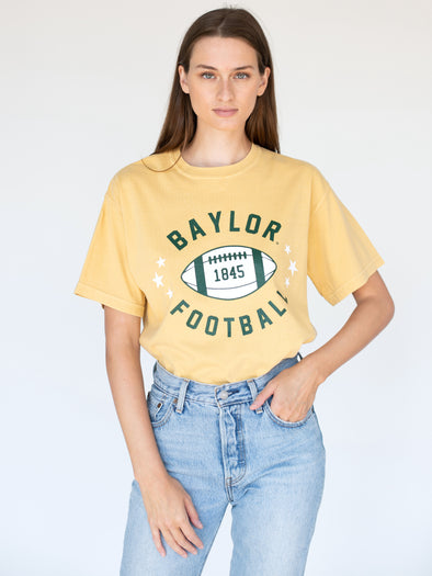 Baylor University Bears Football Star Comfort Colors Short Sleeve T-Shirt - Yellow
