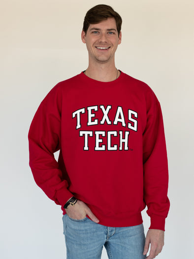 Texas Tech University Red Raiders Crewneck Sweatshirt - Red