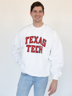 Texas Tech University Red Raiders Crewneck Sweatshirt - White