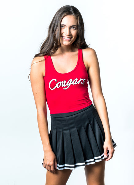 University of Houston Cougars Cropped Tank Top - Red